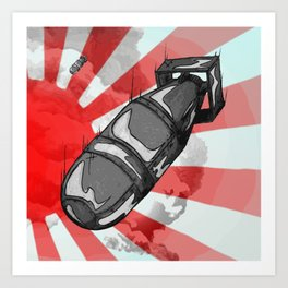 Atom Bomb Fat Boy Art Print