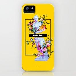 Vaporwave Venus with Flowers iPhone Case