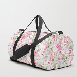 Vintage & Shabby Chic - Pastel Spring Flower Medow Duffle Bag