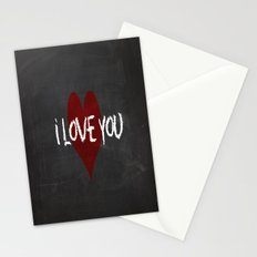 Valentines I love you Chalkboard Design Stationery Cards