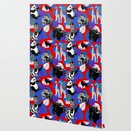 ZEBRA PANDA GIRAFFE CHEETAH LION Wallpaper