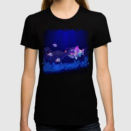 Anglerfish, lie and bioluminescence T-shirt