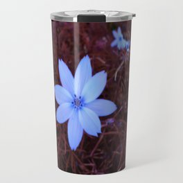 Shambhala Flower White 1a - Scrap Travel Mug