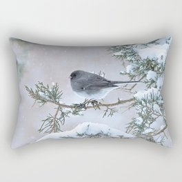 Snow Day Junco Rectangular Pillow