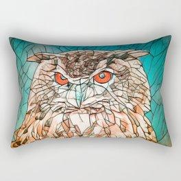 Owl Portrait Rectangular Pillow
