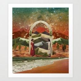 Magic door to the infinite deserts Art Print