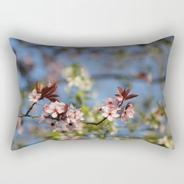 Adorable Apple Tree Flowers Rectangular Pillow