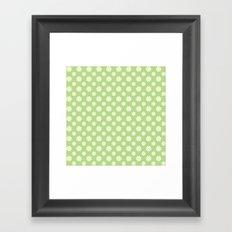 Daisies on Green Framed Art Print