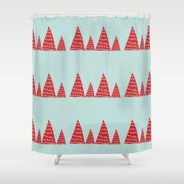 Funky christmas tree Shower Curtain