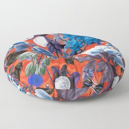 Romantic Garden IX Floor Pillow