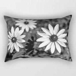 Three Gloriosa daisies B&W Rectangular Pillow