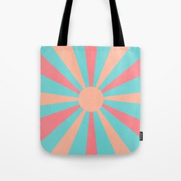 pink and peach sunshine Tote Bag