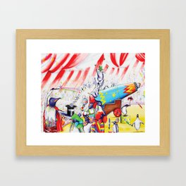 Circus Penguins Framed Art Print