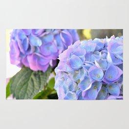Purple Blue Hydrangeas Rug
