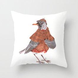 Sherlock Robin Throw Pillow