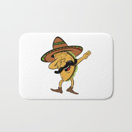 Cinco De Mayo Dabbing Taco Bath Mat