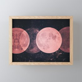Pink Moon Phases Framed Mini Art Print