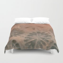 Agatized Coral Filtered Duvet Cover