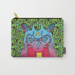 Trippy Wise Owl Carry-All Pouch