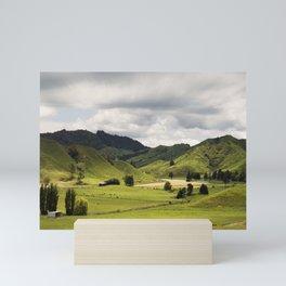 Farmland Forgotten World Highway SH 43 New Zealand Mini Art Print