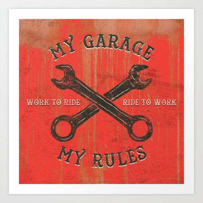 My garage Art Print