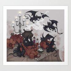 Samhain Kittens Art Print