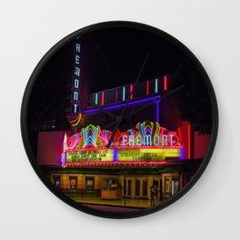 Night Lights Fremont Theater, San Luis Obispo, California Wall Clock