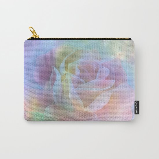 Pastel Watercolor Rose Carry-All Pouch