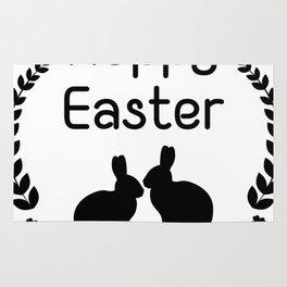 Hoppy Easter Bunny Funny Kids Women Men Rug