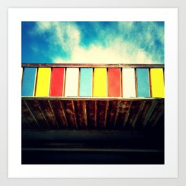 Colorful Awning Art Print