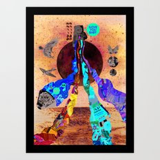 Luna Marina Art Print