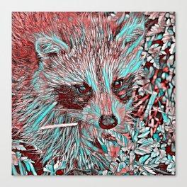 ColorMix Raccoon Canvas Print