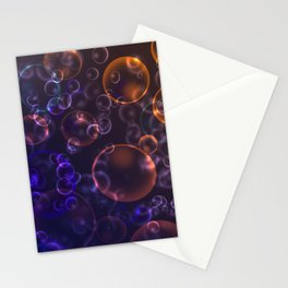 Mirages. Blurred background Lenses, bubbles Stationery Cards