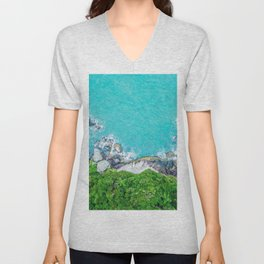 Parrot View of Tropical Heights Unisex V-Neck