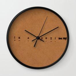 I'm a cunt Wall Clock
