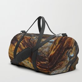 Patterns of an old wood Duffle Bag