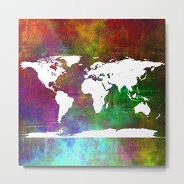 WORLD MAP #society6 Metal Print