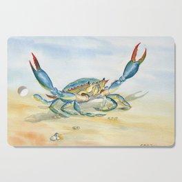 Colorful Blue Crab Cutting Board