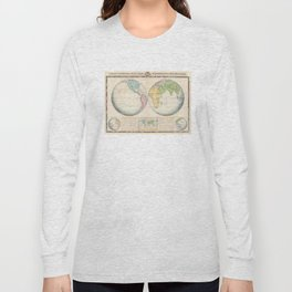 Vintage Map of The World (1862) 2 Long Sleeve T-shirt