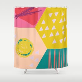 Abstract Game Shower Curtain