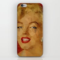 monroe iPhone & iPod Skins featuring Monroe by Ancello