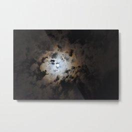 Full Moon On A Dark Cloudy Summer Night Metal Print