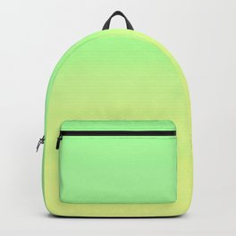 Lime Pastel Gradient Stripes | Green yellow pattern Backpack