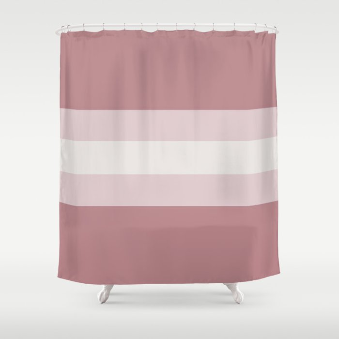 Dusty Rose Meets Pale Pink And Light Grey Shower Curtain