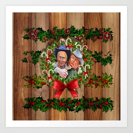 Trump Putin Christmas Art Print