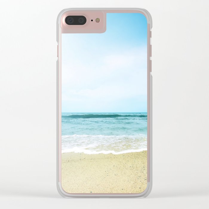 Paradise Ocean waves Clear iPhone Case
