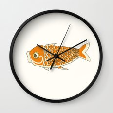 Koi Orange Wall Clock