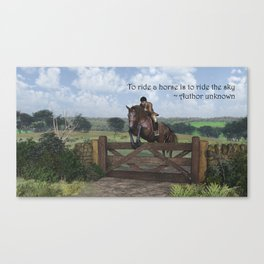 Ride the Sky Canvas Print