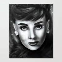 audrey Canvas Prints featuring Audrey  by Lily Fitch
