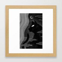 The Subtle Cat Framed Art Print